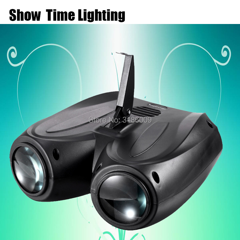 hot sale LED 2 head airship dj led Moon flower light Home entertainment DJ party Disco light Sound work Carton Building block