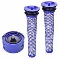 2X Pre Filtro + 1X Hepa Post-Kit Filtro Per Dyson V6 Cordless Stick Vuoto, dyson Sostituzione del Filtro Pre-Filtro (965661-01) UN