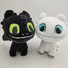 Hot How To Train Your Dragon 3 Light Fury Night Toothless Plush Toys Soft White Black Stuffed Animals Doll Kids