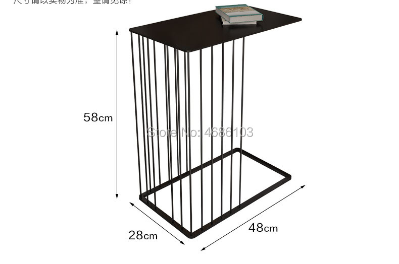 Luxury Gold Creative Wrought Iron Coffee Table Modern Minimalist Small Table  Bedroom Bedside Table Sofa Side. Sku: 32973581797