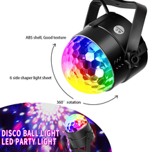 Sound Activated Led Party Lights 6 Colors Disco Ball Light Remote Control Led Stage Lights