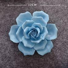 2018 Creative Ceramic Flowers Peony Flowers And Cherry Blossoms Decorative Arts And Crafts Wall Decorations