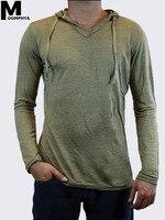 Moomphya 2019 новое поступление с капюшоном с длинным рукавом мужская футболка уличная Однотонная футболка для мужчин Фитнес Одежда Футболка муж...