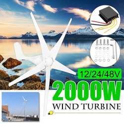 2000 W 12/24/48 Volt 3/5 Lama + Controller Turbine Eoliche Orizzontale Casa del Vento di Potenza del Generatore di Mulino A Vento energia Turbine di Carica