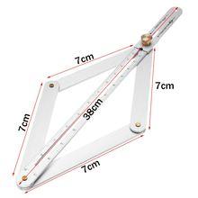 Universal 15 Zoll Gehrung Winkel Messen Werkzeug Lineal Rahmen Carbon Stahl Winkelmesser Multi-winkel Messung Holzbearbeitung Werkzeuge