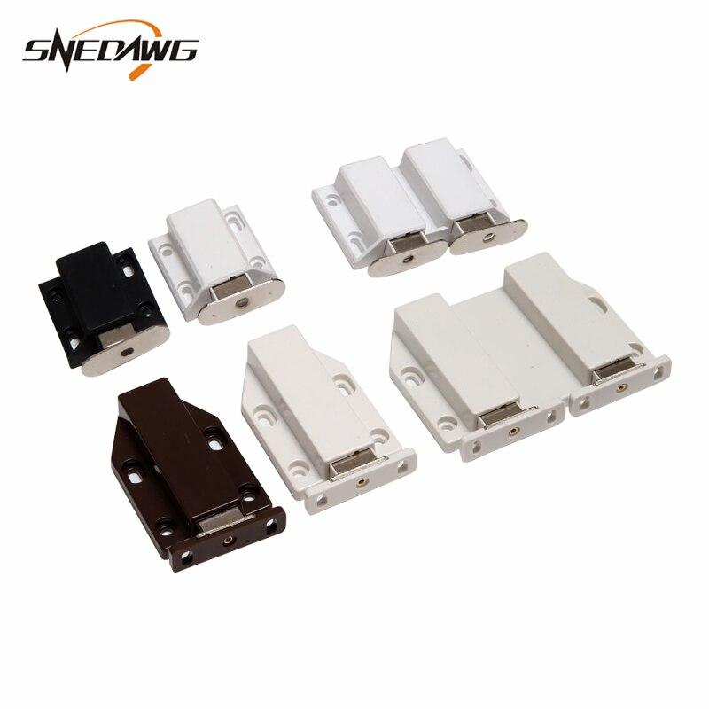 Us 172 20 Offmagnetic Door Catch Double Or Single Door Closer Cabinet Door Catches Push To Open Magnet Catches For Cabinet Cupboard In Cabinet