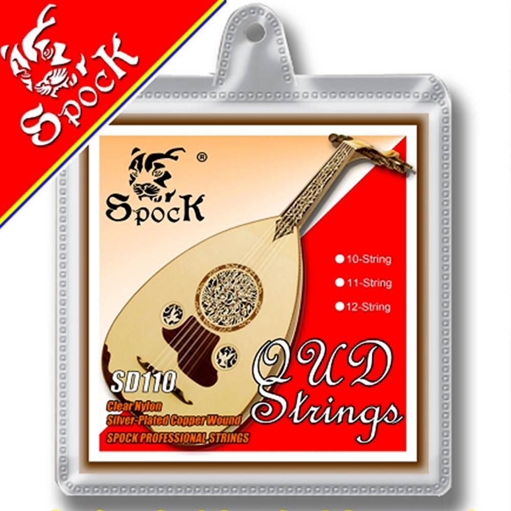 Spock SD110 12 String Oud Strings Clear Nylon Silver Plated Copper Alloy Wound fit for 12 String Oud