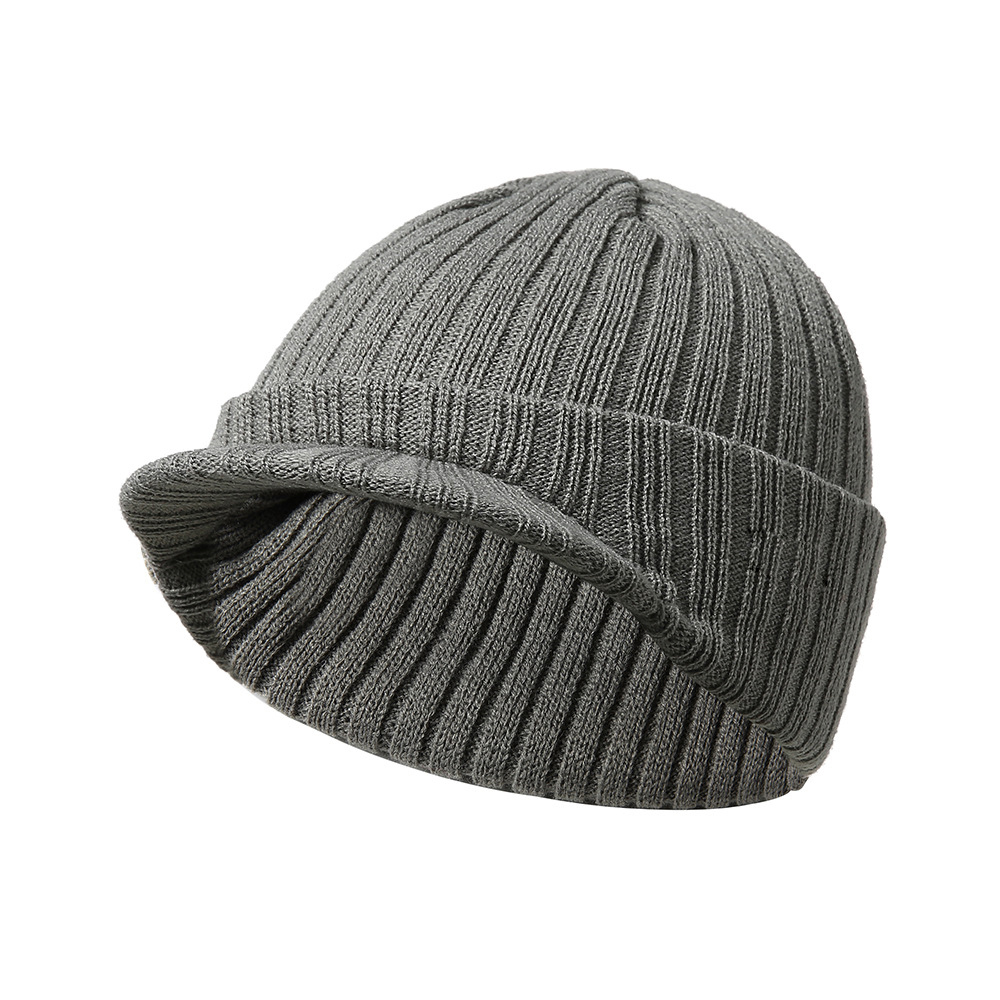 Methodical Women Visor Brim Peaked Cap Solid Color Beret Caps Female Bonnet Women Caps Lady All Matched Winter Warm Knitted Beanies Hat Good Reputation Over The World