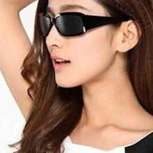 New Arrival Black Unisex Vision Care Pin hole Eye Exercise Eyeglasses Pinhole Glasses Eyesight Improve plastic High Quality