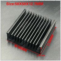 ( Free shipping ) 10 PCS black package mail 50x50x12.7mm computer radiator cooling cooler for CPU radiator aluminum