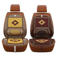 Universal Wooden Bead Beaded Massage Front Seat Cushion Cover Car Van Taxi Office Summer Seat Covers Auto Accessories