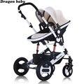 Dragon baby - детская коляска 2 в 1, люлька трансформируется в прогулочный блок, коляска подходит для холодного времени года, бесплатная доставка п...