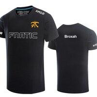 Broxah League of Legends S8 Finals Fnatic Team Short Sleeve T Shirt O neck harajuku casual Game LOL Team FNC Cotton Tops Tees