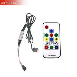5 V USB kontroler LED WS2812 SK6812 pilot bezprzewodowy rf 14Key LED2015 sen kolor taśmy LED RGB 5050 długi długości życia IQ