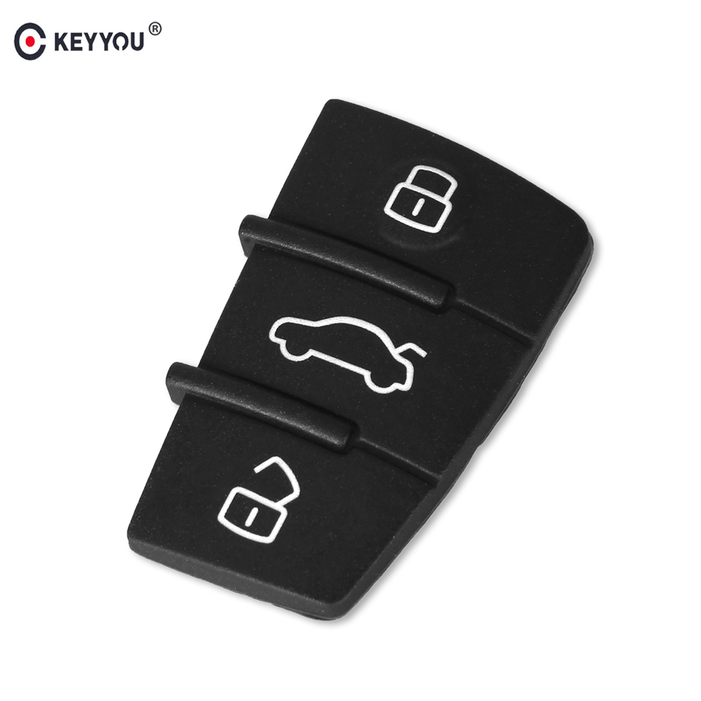 KEYYOU 3 Buttons Replacement Rubber Pad Key Shell Fob For Audi A3 A4 A5 A6 A8 Q5 Q7 TT S LINE RS Remote Key Case CoverKEYYOU 3 Buttons Replacement Rubber Pad Key Shell Fob For Audi A3 A4 A5 A6 A8 Q5 Q7 TT S LINE RS Remote Key Case Cover