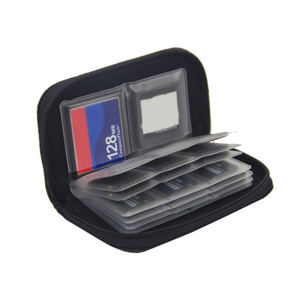 22 Slots Photography Accessory Storage Cases Holder Carrying  Carrying Pouch Micro  Cards Memory Card Storage Wallet