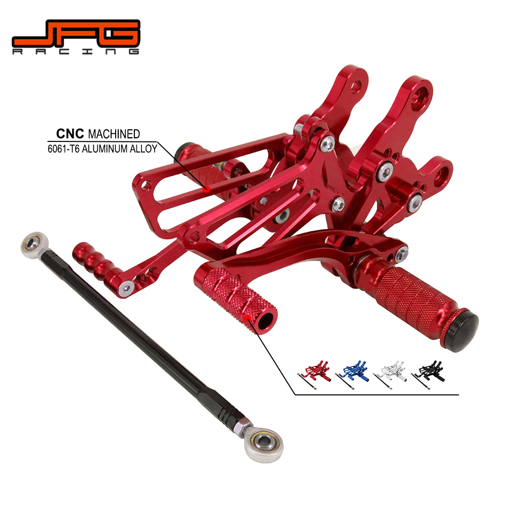 Motorcycle CNC Adjustable Foot Pegs Pedals Rest Rearset Footpegs For HONDA CBR400RR NC23 93-99 CBR900RR 92-95 CBR919RR 96-99