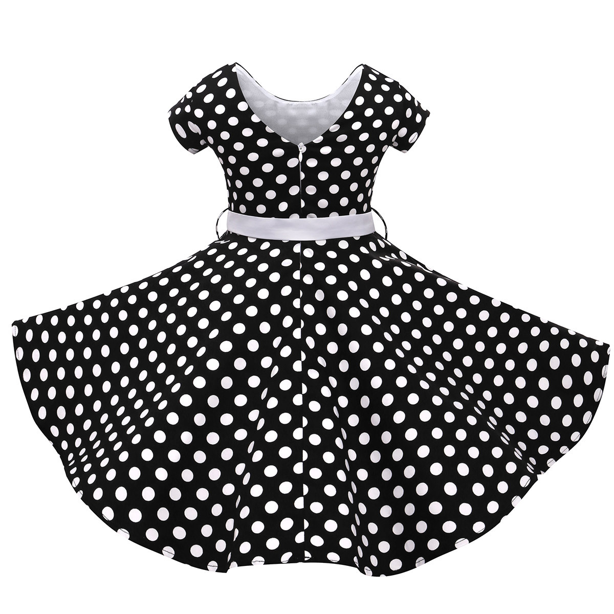 2019 New Girls Dress Fashion Kids Ball Gowns Junior Girls Prom Dresses  Fancy Children Teenage Dot Print Clothes 8 10 12 Years-in Dresses from  Mother   Kids ... f7125f637648