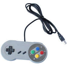 Direct Selling Grey USB Controller pc joystick Game Wired Classic for Super for Nintendo SNES gamepad цена 2017