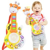 New Baby Kids Musical Educational Guitar Small Deer Drum Piano Multifunctional Music Keyboard Music Toys Instrument
