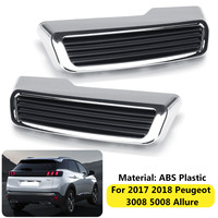 1Pair Car Tail End Pipe Exhaust Muffler Cover Trim For Peugeot 3008 5008 For Allure 2017 2018 Car Styling Auto Replacement Kit