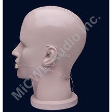 Omnidirectional Wireless Headset Head worn Microphone Mics for MiPro System TA4F mini Lock Plug Beige