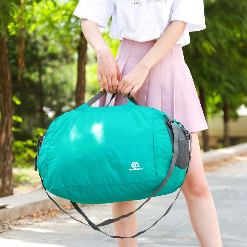 32L Water-Resistant Large Travel Duffle Bag For Men & Women Foldable Backpack Shoulder Bag Gym Sports Bag Outdoor Hiking