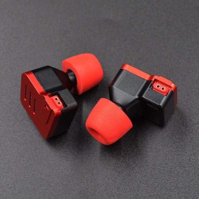 KZ oryginalne końcówki słuchawek dousznych z pianki memory 3 pary (6 sztuk) izolacja hałasu wygodne wkładki do uszu douszne słuchawki douszne do słuchawek KZ ZSX ZS10 Pro