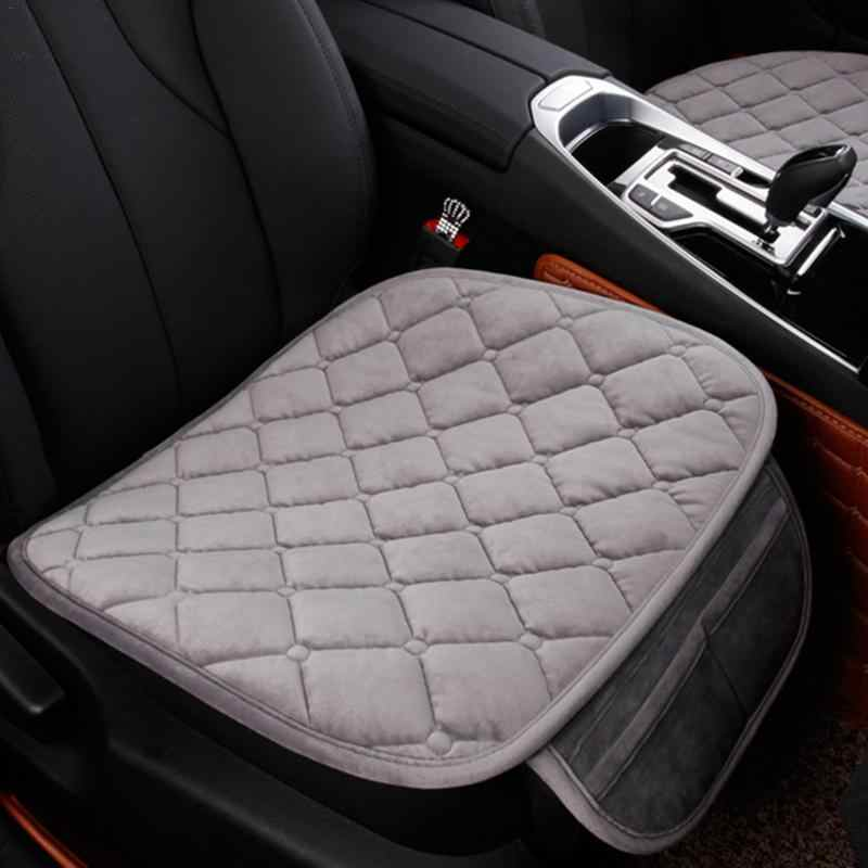 Swan Short Velvet Car Seat Cushion Winter Warm Cushion Washable Durable Automobile Supplies