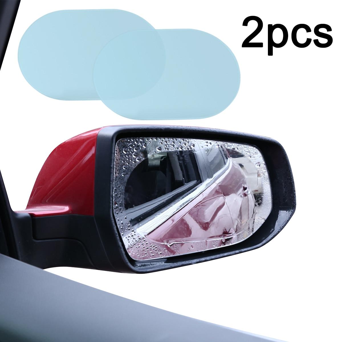 Mayitr 2 個 140*100 ミリメートル車の抗水霧フィルム防雨バックミラー窓保護フィルム