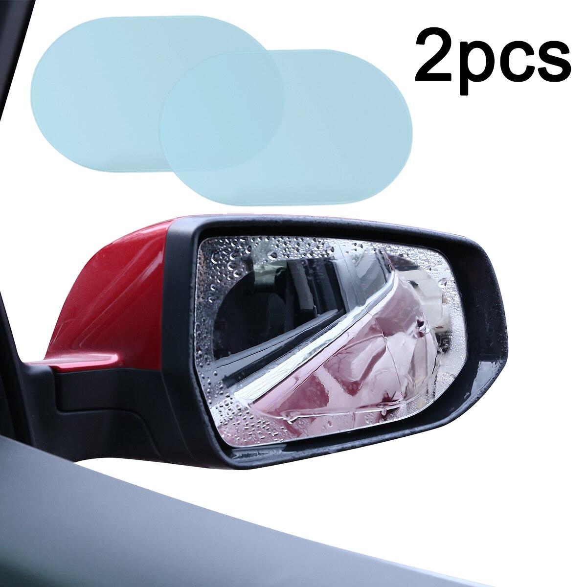 Mayitr 2 sztuk 140*100MM owalne samochodów Anti Water mgła Film przeciwdeszczowa lusterko ochronne okienko Film