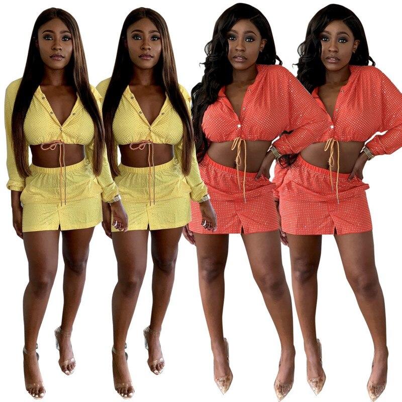 MUXU Women 39 s glitter long sleeve mini dress vestidos fashion woman clothes kleider sukienka two piece set jurken streetwear jurk in Dresses from Women 39 s Clothing