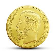 Россия Николая II 1901 монет позолоченные подарки коллекция