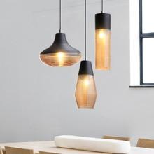 Modern LED pendant lamps Vintage Pendant Lights Glass Hang lamp Living Room Bedroom Loft Industrial Home Decor Kitchen Fixtures