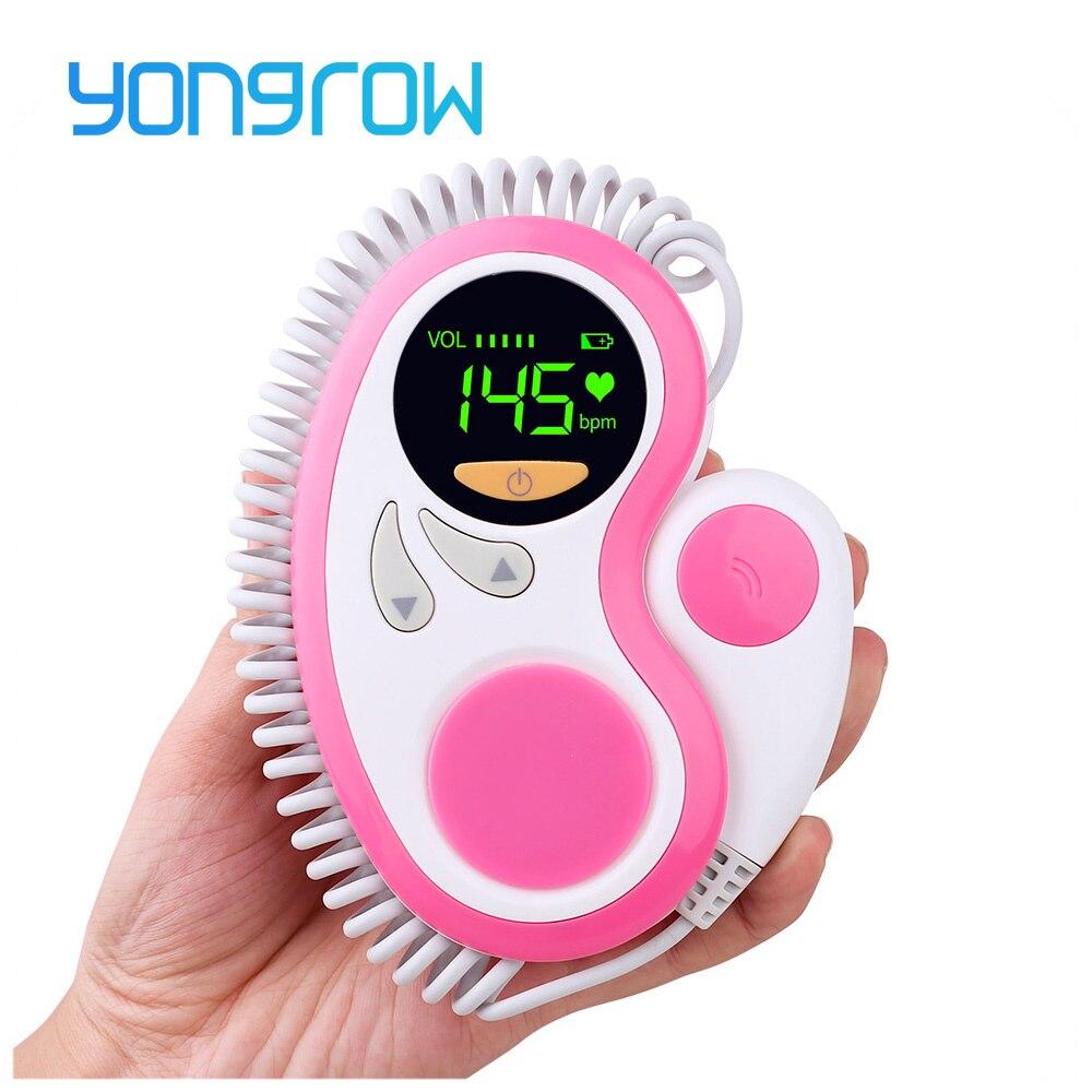 Moniteur Doppler fœtal Yongrow comme cadeaux de grossesse pour les nouvelles mamans moniteur de rythme cardiaque de bébé à naître pour moniteur de fréquence cardiaque fœtal