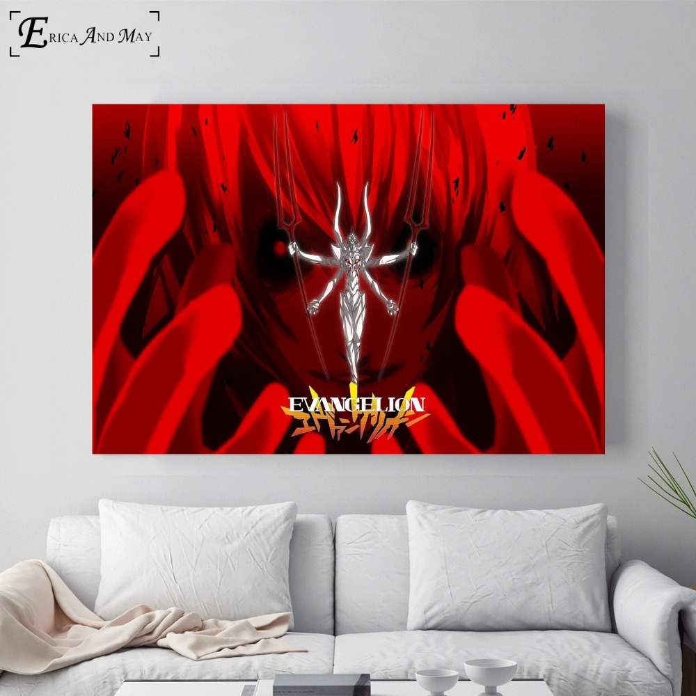 Neon Genesis Evangelion Anime Poster And Print Canvas Art Painting Wall Pictures For Living Room Decoration Home Decor No Frame in Painting Calligraphy from Home Garden