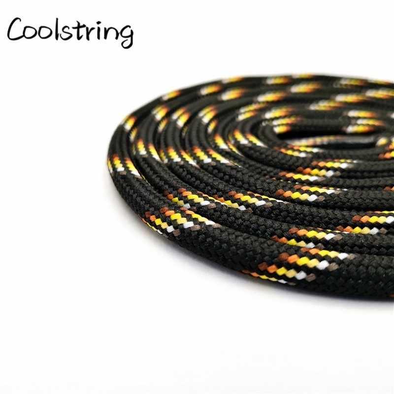 Coolstring 6mm de Espessura Rodada Corda Cadarços Botas Desporto Ao Ar Livre Casuais Rodada Cadarço Colorido Cordão Preto 60-180 centímetros de Vendas