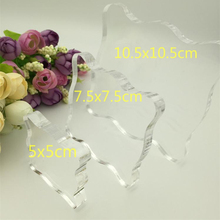 YLCST002 Acrylic Silicone Clear Stamps Block For Scrapbooking DIY Album Cards Embossing Handle Starter Shape Craft Rubber Stamp