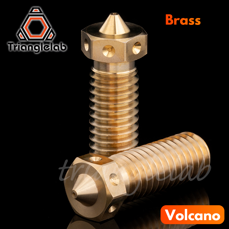 trianglelab Top quality V6 volcano Nozzle for 3D printers hotend 5pcs/lot  volcano upgrade kit for E3D volcano hotendtrianglelab Top quality V6 volcano Nozzle for 3D printers hotend 5pcs/lot  volcano upgrade kit for E3D volcano hotend