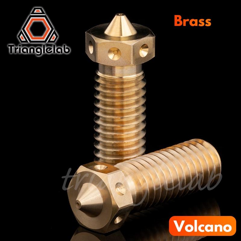 trianglelab top quality v6 vulcao hotend bico para impressoras 3d 5 pcs lote kit de atualizacao