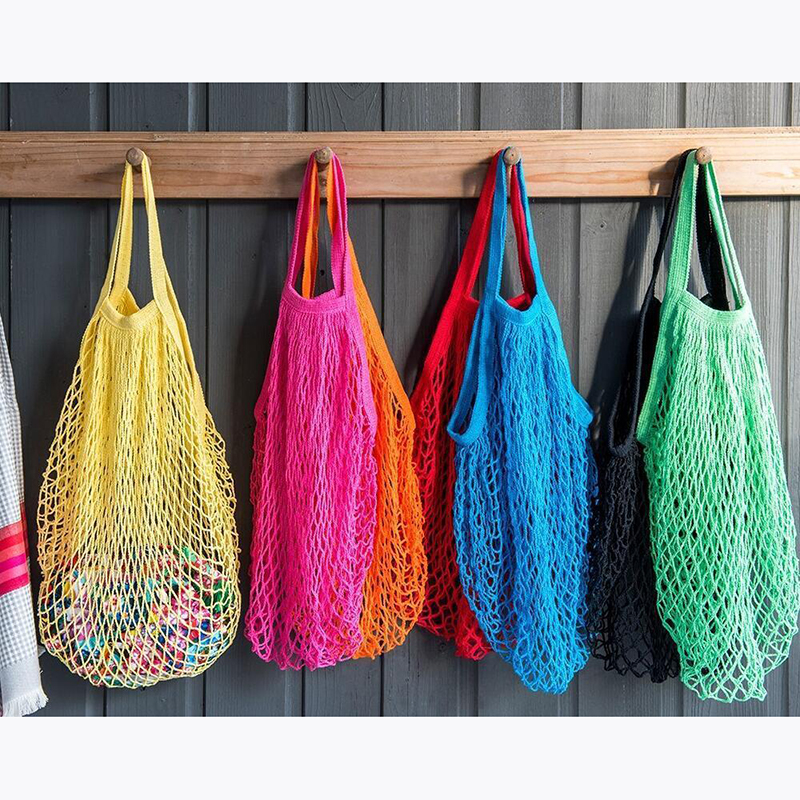 Reusable String Shopping Grocery Bag Shopper Tote Mesh Net Woven Cotton Bag Casual Environmental Protection Low Carbon New Sale