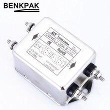 1 шт. AC мощность однофазный EMI фильтр CW4EL2-S 10A 20A 30A разъем