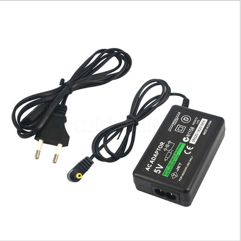 Домашний адаптер переменного тока с европейской вилкой, 5 В, настенное зарядное устройство, источник питания для Sony PlayStation Portable PSP 1000 2000 3000, за...