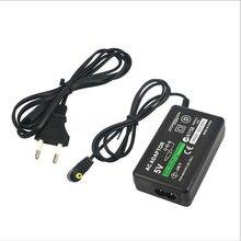 Ue plug 5v casa ac adaptador de parede carregador fonte alimentação para sony playstation portátil psp 1000 2000 3000 cabo carregamento