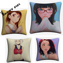 Sexy Anime Girls Decorative Pillow Covers For Sofa Home Decor Linen Cushion Case 45x45cm Chair Hotel Throw Pillow Cases new year buck flower bird decorative pillow covers for sofa home decor linen cushion case 45x45cm throw pillow cases