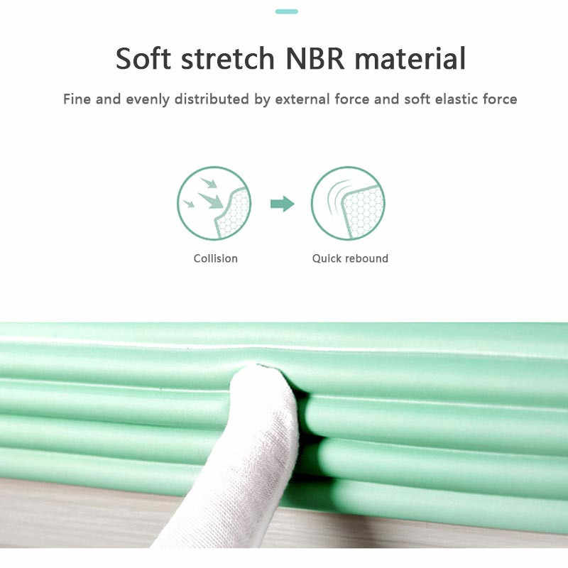 2M Baby Proof Corner Furniture Guard Protector Edge Foam Child Protection Toddler Table Kids Safety Securite Enfant Caoutchouc