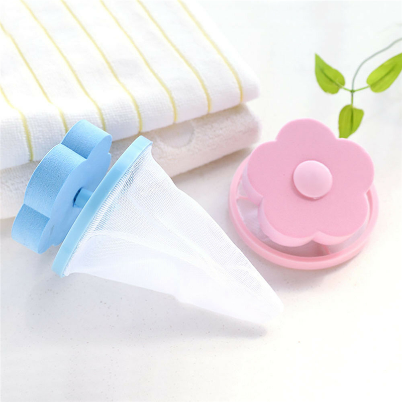 Image 4 - Filter Bag For Washing Machine 1Pcs Flower Wash Machine Ball Hair Lint Fluff Grabbing Remover Reusable Hair Removal Laundry Ball-in Laundry Balls & Discs from Home & Garden