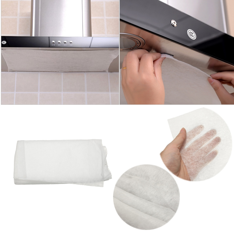 US $1.1 17% OFF|45x60cm Universal Use Kitchen Absorbing Paper Non woven  Anti Oil Cotton Filters Cooker Hood Extractor Fan Filter Non woven-in  Sponges ...