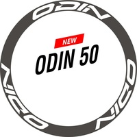 Two Wheel Stickers Set for ODIN 50 Carbon Rim Road Bike Bicycle Cycling Decals