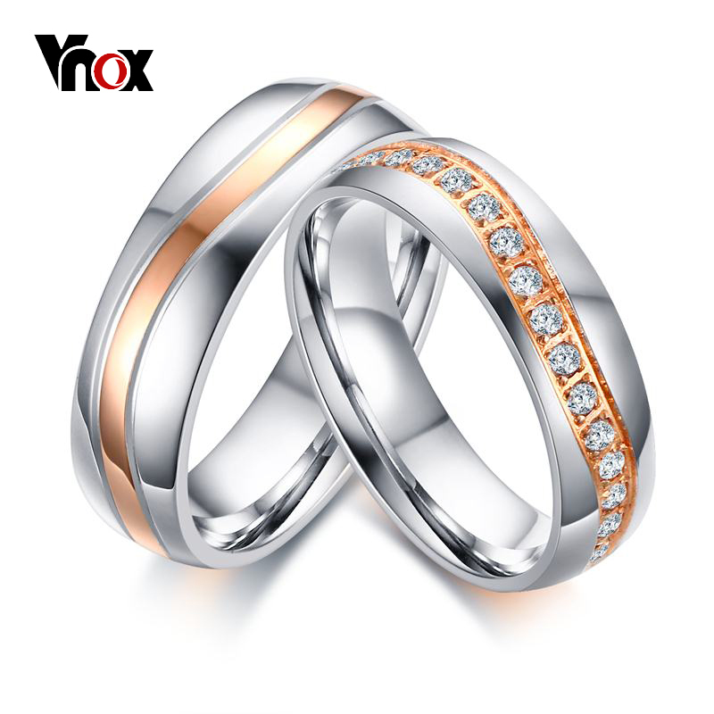 Wedding & Engagement Jewelry Vnox Luxury Cz Stones Wedding Rings Band For Women Men Wave Line Alliance Couple Anniversary Promise Ring Bijoux Waterproof Shock-Resistant And Antimagnetic